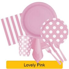 LOVELY PINK TABLEWARE -  Plates/Cups/Napkins/Tablecovers/Bags/Balloons
