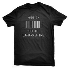 Made in South Lanarkshire Barcode T-Shirt local born pride all sizes, fun gift