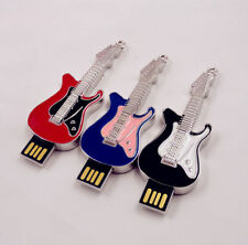 Metal Guitar Model  U disk 4GB-32GB USB 2.0 Memory Stick Flash drive Pen Drive