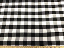 Discount 58 inch wide Tablecloth Fabric Black and White Check DR22