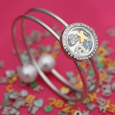 Fashion Snap-it Floating Locket Chunk Charm Button For Snap Jewelry Bracelet New