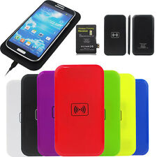 Qi Wireless Charging Pad Charger + Receiver For Samsung Galaxy S3 S4 S5 Note 3 4