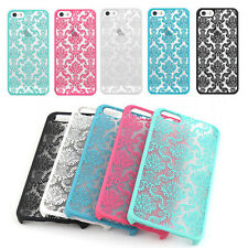 For iPhone5 5S 5C Samsung Note 4 PC Damask Pattern Matte Hard Case Cover Skin