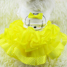 New Small Pet Dog Clothes Bubble Skirt Dress  Dog Princess Dress Coat Clothing