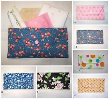 Tampon Personal Sanitary Holder Travel Case Purse Bag Flowers Dots Pink Blue
