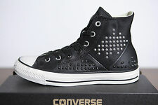 New All Star Converse Chucks Hi Leather Studded Studs black 542418c