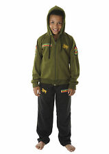 CHILDREN LION OF JUDAH Jamaica RASTA JAH ARMY HOODIE TRACKSUIT 3-12Y-FREE UK P&P