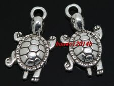 10/40/240pcs Tibetan silver turtle Jewelry Finding Charms pendant 23x12mm