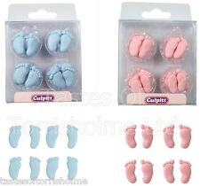 24 Culpitt Edible Baby Feet Cupcake, Cake Decorations Christening Sugar Toppers