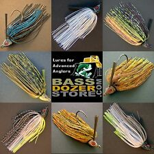 Bassdozer WISCONSIN Swim Jigs. Bass fishing jig lures. Best colors, sizes.