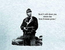Cross of Iron Movie WWII T shirt James Coburn ppsh German Werhmacht  Russian
