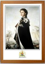 Framed portrait print of Queen Elizabeth II, royalty, British Monarchs