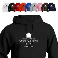 WORLD'S BEST Pilot Light Aircraft Gift Hoodie Arrow
