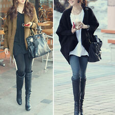 Women Batwing Cardigans Shawl Knit Coat Jacket Woolen Knitwear Sweater M1680