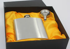 6/7/8 oz Stainless Steel Whiskey Hip Flask Liquor Flagon Cups Funnel in Gift Box