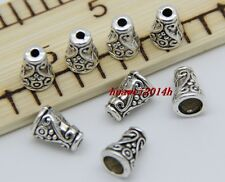 30/150pcs Tibetan Silver Flower Bead Caps Jewelry Charms Beads Cap DIY 10x7mm