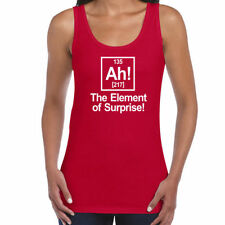 Womens Funny Tank Top Vests-Ah! The Element of Surprise..Periodic Table Vest