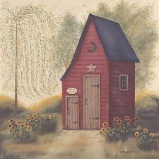 Art Print, Framed or Plaque by Pam Britton -Folk Art Outhouse II - BR298