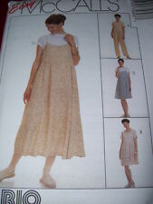 McCALL'S #7560- LADIES CUTE MATERNITY ROMPER - DRESS & SLIP DRESS PATTERN 6-16uc