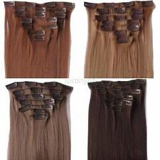 26'' 7Pcs Clip In Full Head 100% Real Remy Human Hair Extensions Straight J43