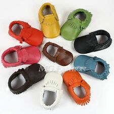 Baby Tassel Soft Sole Leather Shoes Infant Boy Girl Toddler Moccasin 0-24 Months