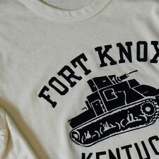 40s 50s Vintage Reproduction US Army FORT KNOX T-Shirt Tee Military WW2 AllSizes