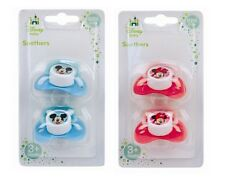 Disney Baby Pack of 2 Mickey or Minnie Soothers Dummies Dummy - Boys or Girls