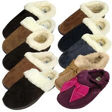 Womens Faux Suede Furry Slippers Warm Luxury Quality Slipper Ladies Girls UK 3-8