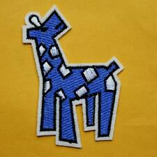 Giraffe Iron on Sew Patch Cute Applique Badge Embroidered Wild Animal Baby Biker