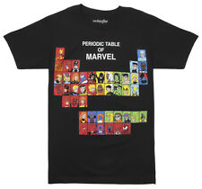 Marvel Comics Periodic Table of Characters Adult T-Shirt - Black