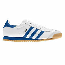 ADIDAS ORIGINAL MENS ROM WHITE/BLUE SIZE 7-11 TRAINERS SHOES SNEAKERS NEW