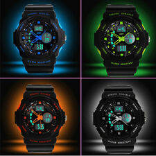 Unisex Multifunction LED Sports Dual Display Digital Wrist Watch Wristwatch