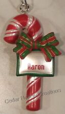 Personalized Candy Cane Ornament-Choose Name From Drop Down Menu - T thru Z