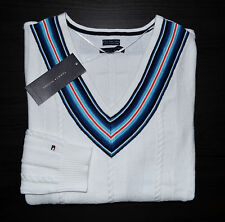 NWT Women's Tommy Hilfiger V-Neck Pullover Sweater White, S, M, L,