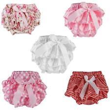 Baby Girl's Toddler Ruffle FRILLY Pants Nappy Cover Bloomers Pettiskirt 0-6M