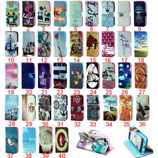 1pc Hot Sales Flip Magnetic PU Leather Wallet Card Stand Case Cover For Samsung