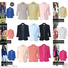 Womens Ladies Celeb Inspired Tailored Fitted Blazer Ladies Jacket Top UK 8-16