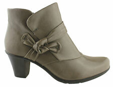 PLANET SHOES PIA WOMENS/LADIES SOFT LEATHER COMFORT MID HEEL ANKLE BOOTS/SHOES