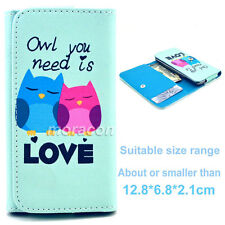Universal Wallet F21 Card Purse Button Flip Case Cover For Many Phones+Stylus