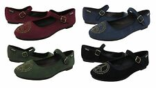 Lucky Brand Womens Cary 1 Adjustable strap buckle Mary Jane Shoes flats