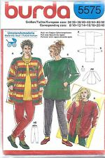 UNCUT Vintage Burda SEWING Pattern Misses Top Blouse Shirt Overblouse 5575 OOP