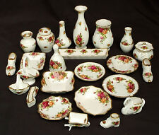 Royal Albert Old Country Roses vases, des plats sucrés & ornements, made in england