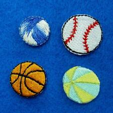 3 Ball Baseball Basketball Patch Iron Sew on Patch Applique Badge Embroidered