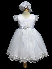 Infant ,Toddler Girls White Christening, Baptism Dress , Size X-Small to 4T