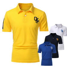 NEW Mens Stylish Casual Slim Fit Short Sleeve Polo Shirt T-shirt Muscle Tee Tops