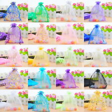 50 Drawable Organza Wedding Gift Bags&Pouches 13x16