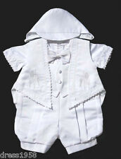 Boys Infant Toddler Christening Baptism Outfit White Grapes,Sz: Medium, Large