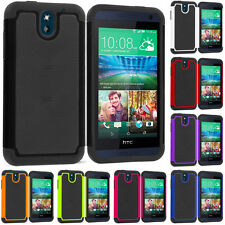 For HTC Desire 610 Hybrid Rugged Shockproof Armor Hard Soft Case Cover Accessory