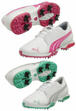 New Womens Puma Biofusion White Lightweight Waterproof Leather Golf Spikes Shoes