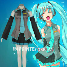 Vocaloid Hatsune Miku Dress Anime Cosplay Costume Full Set FREE P&P